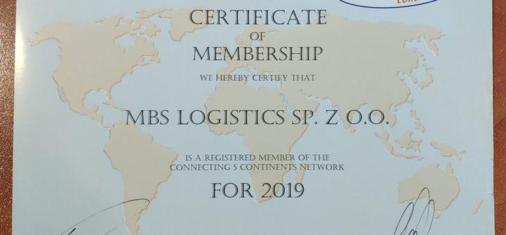 Certyfikat członkostwa w sieci C5C na rok 2019