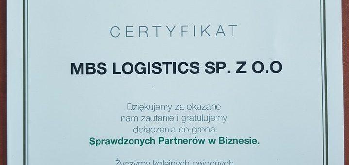 Certyfikat EFL – Sprawdzony Partner w Biznesie